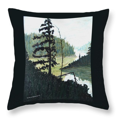 Sudbury Throw Pillow featuring the painting South of Sudbury by Ian MacDonald