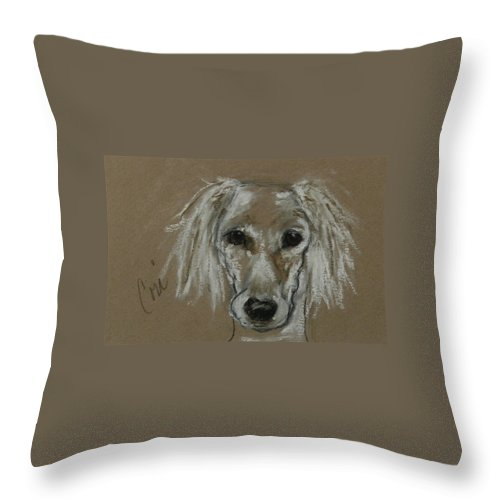 Drawing Throw Pillow featuring the drawing Special Moments by Cori Solomon