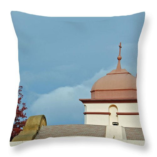 St Marks Episcopal Church Throw Pillow featuring the photograph St Marks Episcopal Church Berkeley CA by Suzanne Gaff