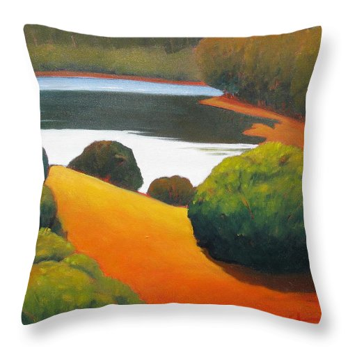 Lake Throw Pillow featuring the painting Still Waters by Gary Coleman