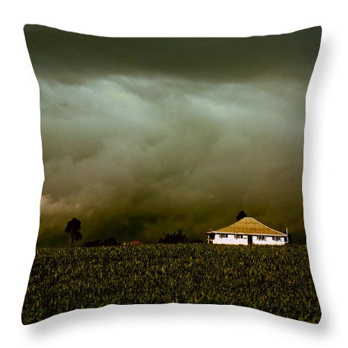 Landscape Throw Pillow featuring the photograph Storm On The Rise by Holly Kempe