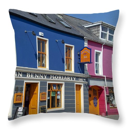 Irish Throw Pillow featuring the photograph Strand Street in Dingle Ireland by Teresa Mucha