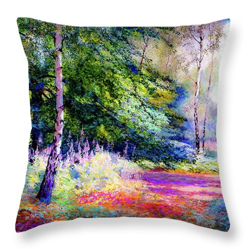 Landscape Throw Pillow featuring the painting Sublime Summer by Jane Small