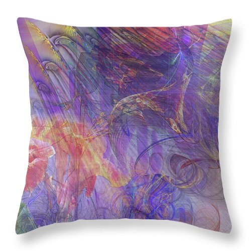 Summer Awakes Throw Pillow featuring the digital art Summer Awakes by John Robert Beck