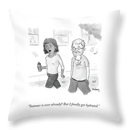 Summer Is Over Already? Throw Pillow