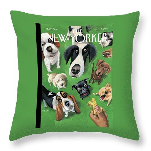 Summer Treat Throw Pillow