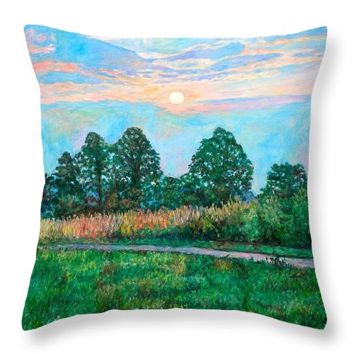 Kendall Kessler Throw Pillow featuring the painting Sunset Near Fancy Gap by Kendall Kessler
