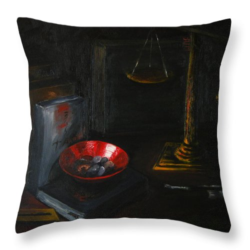 Art Throw Pillow featuring the painting Symbols Of Life by Patricia Awapara