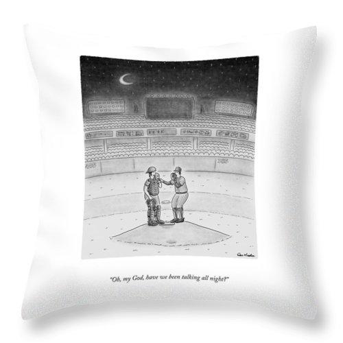 Talking All Night Throw Pillow