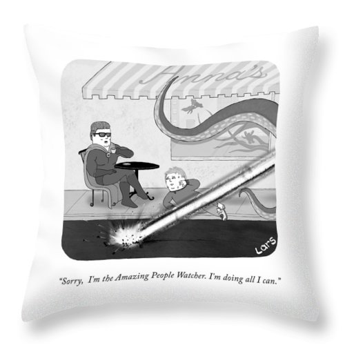 The Amazing People Watcher Throw Pillow