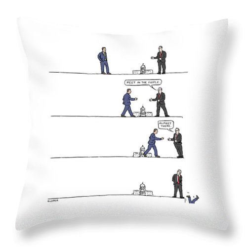 The Art of Political Compromise Throw Pillow