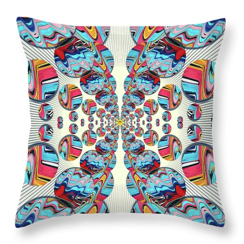 Abstract Throw Pillow featuring the digital art The Butterfly Effect by Jack Entropy