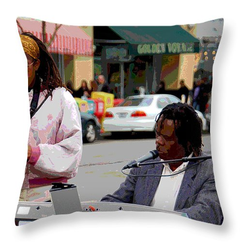 Jazz Throw Pillow featuring the photograph The Color Of Music by Suzanne Gaff