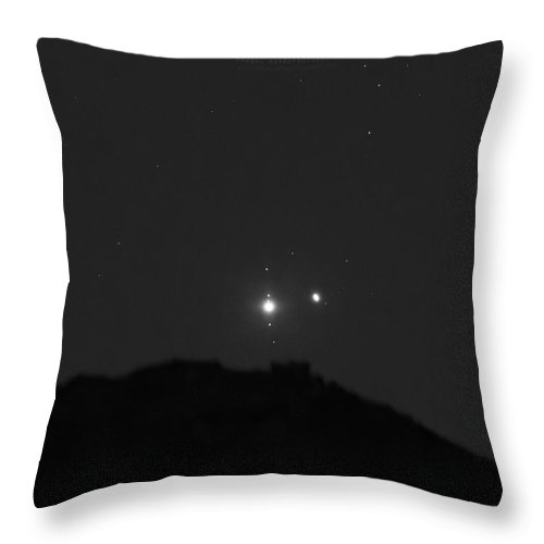 Throw Pillow featuring the photograph The Last sight of the Conjunction by Prabhu Astrophotography