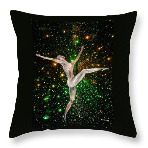 Dance Throw Pillow featuring the painting The Light Fantastic Dance and Stars by Tom Conway