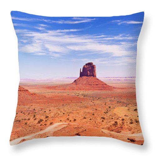 Monument Valley Throw Pillow featuring the photograph The Mittens, Monument Valley, Arizona, Usa by Neale And Judith Clark