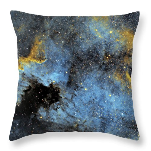 Nebula Throw Pillow featuring the photograph The North America Nebula by Prabhu Astrophotography