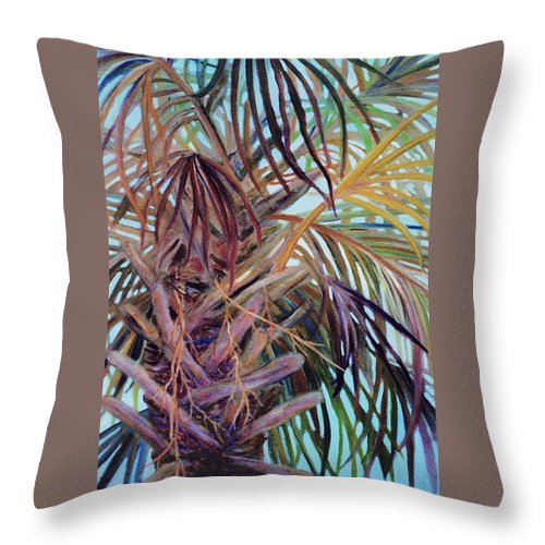 Palm Tree Throw Pillow featuring the painting The Palm by Ben Kiger