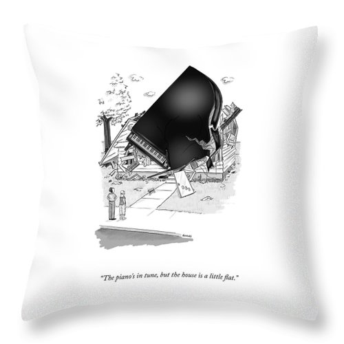 The Piano's In Tune Throw Pillow
