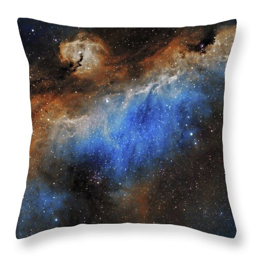 Astronomy Throw Pillow featuring the photograph The Seagull Nebula by Prabhu Astrophotography