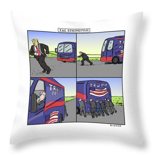 The Strongman Throw Pillow