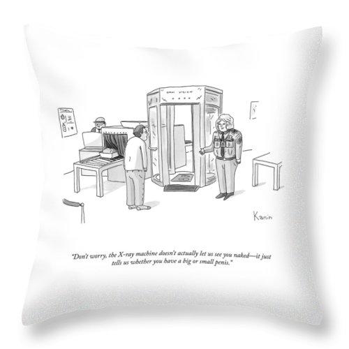The X-ray Machine Throw Pillow