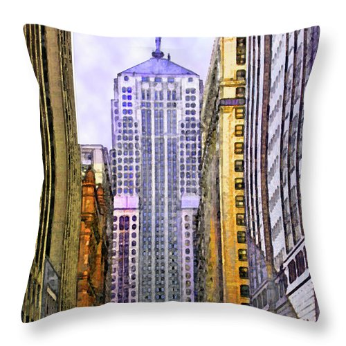 Trading Places Throw Pillow featuring the digital art Trading Places by John Robert Beck
