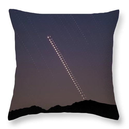 Throw Pillow featuring the photograph Trails of the Great Planetary Conjunction by Prabhu Astrophotography