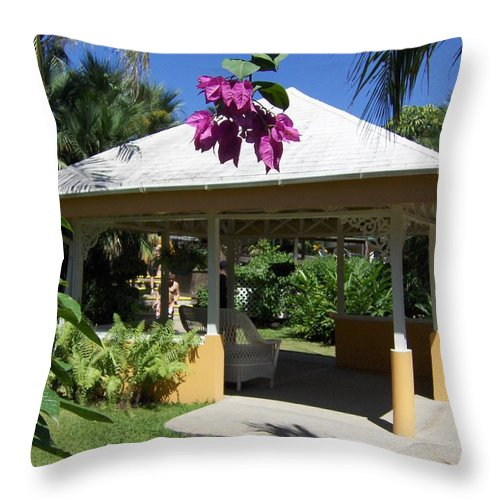 Gazebo Throw Pillow featuring the photograph Tranquility by J Andrel