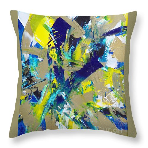 Abstract Throw Pillow featuring the painting Transitions IX by Dean Triolo