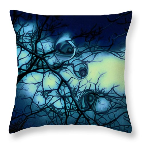 Trees Throw Pillow featuring the photograph Trees have eyes by Linda Sannuti