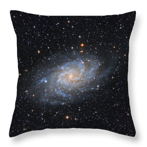 Galaxy Throw Pillow featuring the photograph Triangulum Galaxy by Prabhu Astrophotography