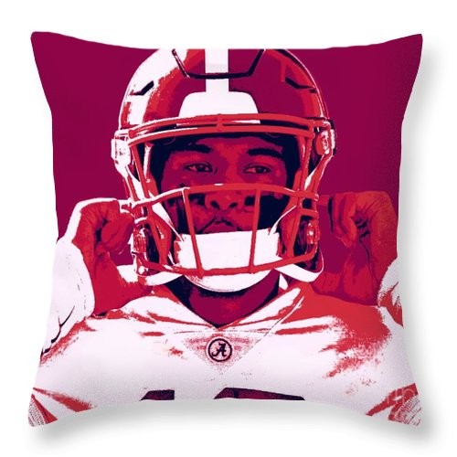 Tua Throw Pillow featuring the painting Tua by Jack Bunds