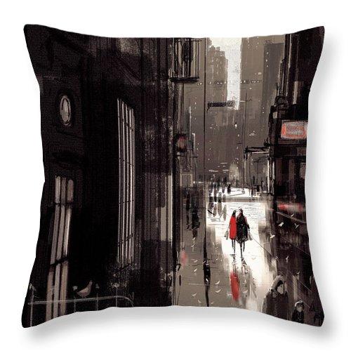 Twilight Avenue Throw Pillow