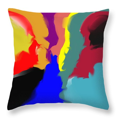 Abstract Throw Pillow featuring the digital art Two Peas in a Pod by Pharris Art