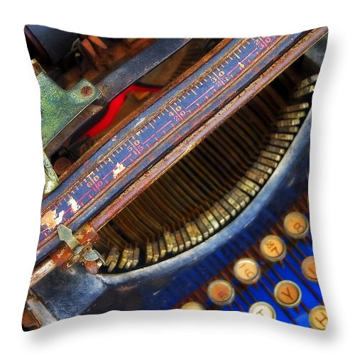 Typewriter Throw Pillow featuring the photograph Typewriter by Skip Hunt
