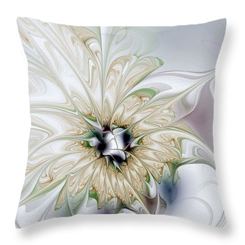 Digital Art Throw Pillow featuring the digital art Unfurled by Amanda Moore