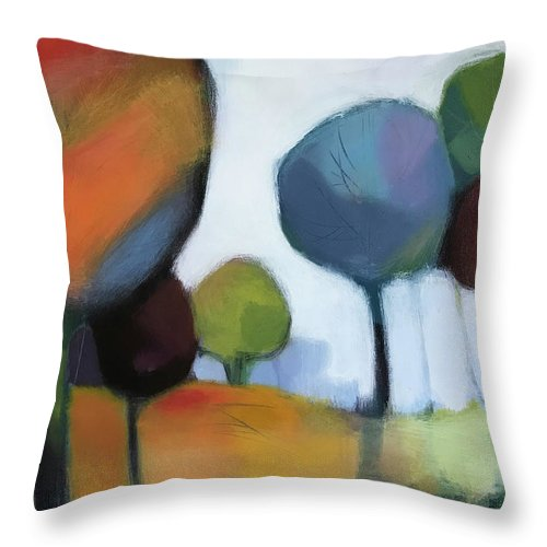 Landscape Throw Pillow featuring the painting Untitled III by Farhan Abouassali