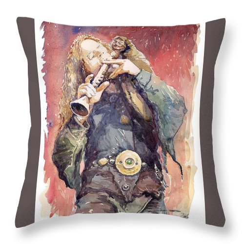 Watercolour Throw Pillow featuring the painting Varius Coloribus Nils Inspired by Yuriy Shevchuk