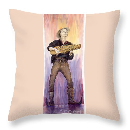 Watercolour Throw Pillow featuring the painting Varius Coloribus Renaldo Renaldini by Yuriy Shevchuk