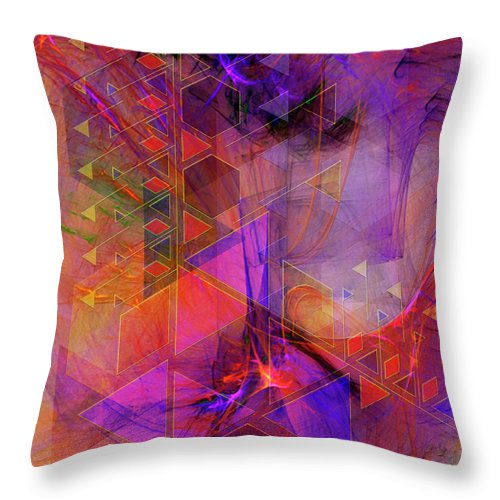 Vibrant Echoes Throw Pillow featuring the digital art Vibrant Echoes by John Robert Beck