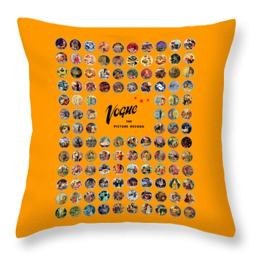 Vogue Picture Record Throw Pillow featuring the digital art Complete Vogue Picture Records by John Robert Beck
