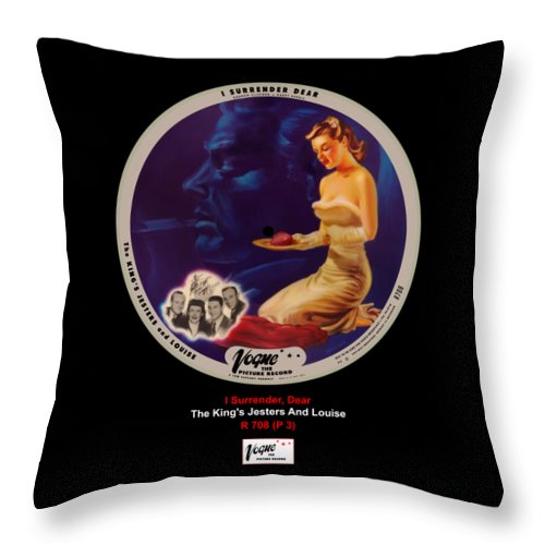 Vogue Picture Record Throw Pillow featuring the digital art Vogue Record Art - R 708 - P 3 by John Robert Beck
