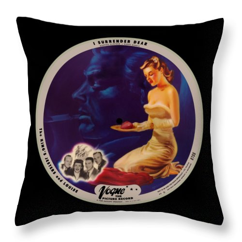 Vogue Picture Record Throw Pillow featuring the digital art Vogue Record Art - R 708 - P 3 - Square Version by John Robert Beck