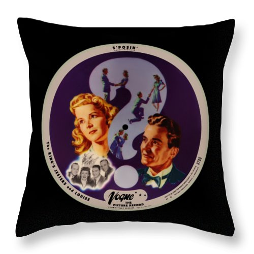 Vogue Picture Record Throw Pillow featuring the digital art Vogue Record Art - R 708 - P 4 - Square Version by John Robert Beck