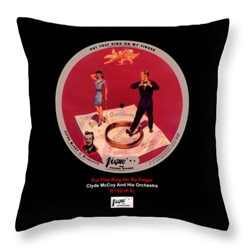 Vogue Picture Record Throw Pillow featuring the digital art Vogue Record Art - R 722 - P 8 by John Robert Beck