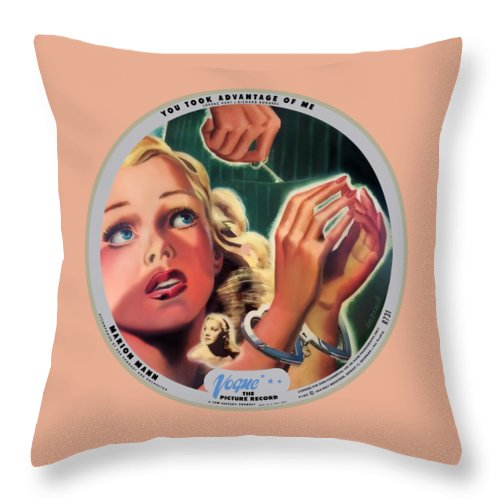Vogue Picture Record Throw Pillow featuring the digital art Vogue Record Art - R 731 - P 105 - Square Version by John Robert Beck
