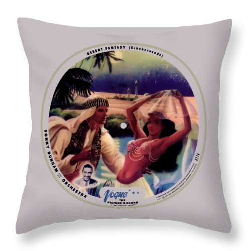 Vogue Picture Record Throw Pillow featuring the digital art Vogue Record Art - R 774 - P 141 - Square Version by John Robert Beck