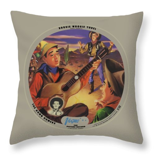 Vogue Picture Record Throw Pillow featuring the digital art Vogue Record Art - R 786 - P 52 - Square Version by John Robert Beck