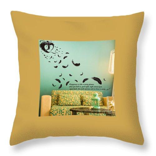 Throw Pillow featuring the digital art Wall art by Wild